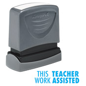 "35170<br>'THIS WORK TEACHER ASSISTED'<br>1/2"" x 1-5/8"""
