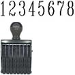 40208 - 40208<br>Traditional<br>Number Stamp<br>Size: 3 / 8-Band