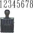 40209 - 40209<br>Traditional<br>Number Stamp<br>Size: 4 / 8-Band