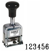 Number Stamp Size: 2 / 6-Band<br>Metal Self-Inking Automatic