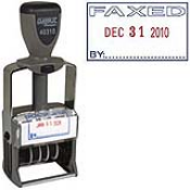 "FAXED Dater 1"" x 1-1/2""<br>Steel Self-Inking"