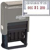 "RECEIVED Dater<br>1""x1-1/2""<br>Plastic Self-Inking"
