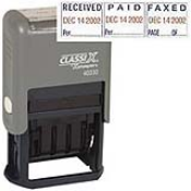 "REC'D/PAID/FAX'D Dater<br>1"" x 1-1/2""<br>Plastic Self-Inking"