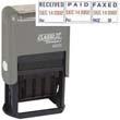 "40330 - REC'D/PAID/FAX'D Dater 1"" x 1-1/2"" Plastic Self-Inking"