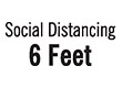 "7043 - 7043 Social Distancing 6 Feet 1/2"" x 1-5/8"""