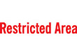 """7048 - 7048 Restricted Area 1/2"""" x 1-5/8"""""""