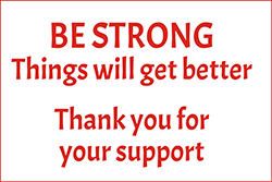 "79022<br>BE STRONG<br>Things will get better<br>8"" x 12"""