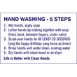 """79025 - 79025 HAND WASHING - 5 STEPS 8"""" x 12"""""""