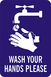 "79026<br>WASH YOUR HANDS PLEASE<br>8"" x 12"""