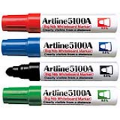 EK-5100A - EK-5100A<br>Artline Big Nib<br>Whiteboard Markers<br>5.0mm Bullet Tip