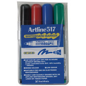 47385 - EK-517<br>Dry Safe<br>47385 (ASSORTED)<br>2.0mm Bullet Tip<br>Whiteboard Marker 4PK