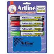 47421 - EK-517<br>Dry Safe<br>47421 (ASSORTED)<br>2.0mm Bullet Tip<br>Whiteboard Markers<br>4PK with Eraser