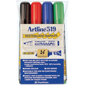 47386 - EK-519<br>Dry Safe<br>47386 (ASSORTED)<br>2.0-5.0mm Chisel Tip<br>Whiteboard Markers 4PK