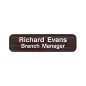 "G33 - G33 - Designer Wall & Door Sign - (BROWN) Frame<br>2"" x 8"""