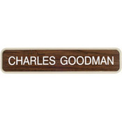 "G36 - G36 - Designer Wall & Door Sign - (ALMOND) Frame<br>2"" x 10"""