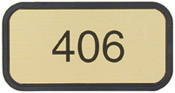 "G43 - Designer Wall & Door Sign - (BROWN) Frame<br>2"" x 4"""