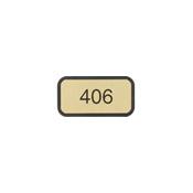 """G40 - G40 - Designer Wall & Door Sign - (BLACK) Frame<br>2"""" x 4"""""""