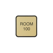 "G50 - G50 - Designer Wall & Door Sign - (BLACK) Frame<br>4"" x 4"""