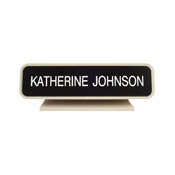 "K21 - K21 - Designer Desk Sign - (ALMOND) Frame<br>2"" x 8"""