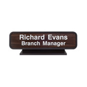 "K23 - K23 - Designer Desk Sign - (BROWN) Frame<br>2"" x 8"""