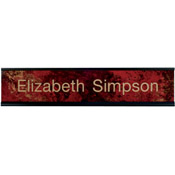 "K37 - K37 - Standard Aluminum Desk Sign - (BLACK) Frame<br>2"" x 10"""