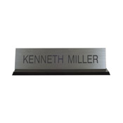 "K41 - K41 - Acrylic Base Desk Sign - (BLACK) Frame<br>2"" x 8"""