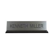 "K41 - K41 - Acrylic Base Desk Sign - (BLACK) Frame<br>2"" x 8"""