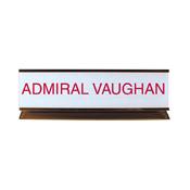 """K50 - K50 - Pedestal Aluminum Desk Sign - (GOLD) Frame<br>2"""" x 8"""""""
