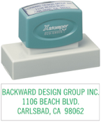 "N24 - Xtra-Large Business Address Stamp<br>1-3/16"" x 3-1/8"""