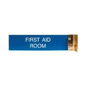 "W40 - W40 - Aluminum Corridor Sign - (GOLD) Frame<br>2"" x 8"""