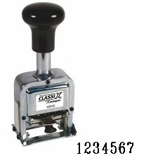 Number Stamp Size: 1 / 7-Band<br>Metal Self-Inking Automatic