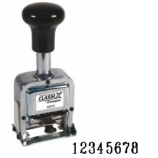 Number Stamp Size: 1 / 8-Band<br>Metal Self-Inking Automatic
