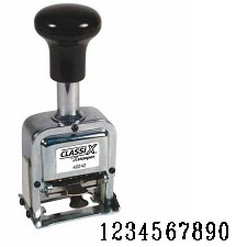 40246<br>Metal Self-Inking<br>Automatic Number Stamp<br>Size: 1 / 10-Band