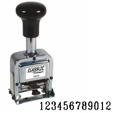 Number Stamp Size:1/12-Band<br>Metal Self-Inking Automatic