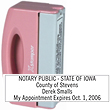 "PN40 - PN40 - Pink Pocket Stamp<br>1/2"" x 2"""